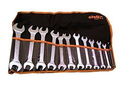 Beta 55/B12 Open End Wrench Set, 12 Pieces ranging from 6mm