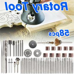 58pcs Rotary Tool Accessory Kit For Grinding Sanding Polishi