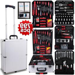 799 pcs Tool Set Standard Metric Mechanics Kit with Trolley
