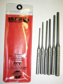 6 Piece Roll  Spring Punch Set, U.S. Made Wilde Tool™, FRE