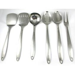 6 Stainless Steel Kitchen Cooking Utensil Set Serving Tools