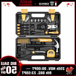 DEKO 62 Pcs Tool Set General Household Hand Tool Kit W Plast