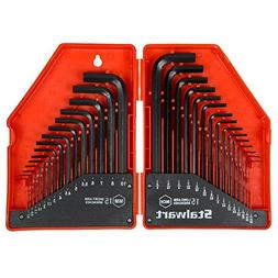 Stalwart 75-HT3010 Combo SAE & Metric Hex Key Wrench Set, 30