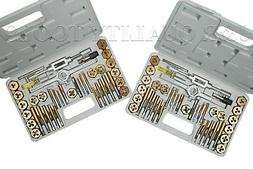 80 PC PIECE TITANIUM METRIC & SAE SIZE INCH STEEL TAP & AND