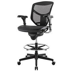WorkPro 9000 Series Quantum Stool Mid-Back Chair, Black
