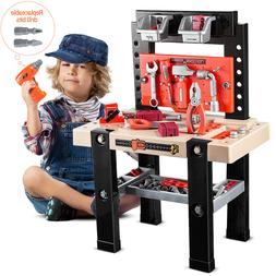91pcs Boy Toy Tool Set Box Workbench Pretend Play Girl Kid D