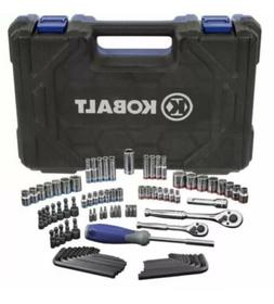 Kobalt 93 Pc Home Mechanics Tool Set Sockets SAE & metric Ha