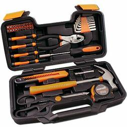 Craftsmans 39 Pcs Household Hand Tool Set In Plastic Toolbox