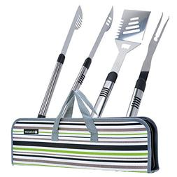Figtree-Chef BBQ Tool Set | Heavy Duty Long Grilling Utensil