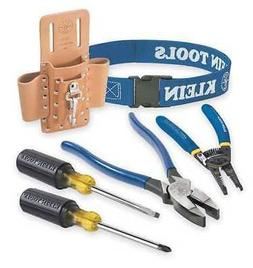 Klein Tools 80006 6-PieceTrim Out Tool Set, Leather Pouch is
