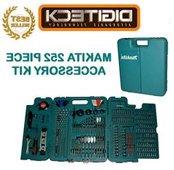 MAKITA 252 PIECE ACCESSORY KIT IN BLOW MOULDED CASE SCREWDRI