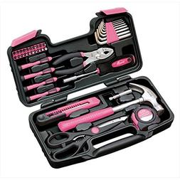 Apollo Tools DT9706P 39 Piece General Tool Set in Pink /RM#G