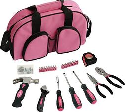 Apollo 69 Piece Women Essential Tool Kit - Pink - Pink