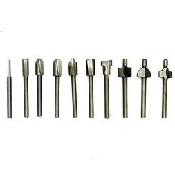 AUTOTOOLHOME 10-piece Set of Mini Wood Router Bits with Asso