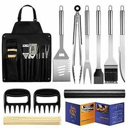 Veken BBQ Grill Accessories 11PCS Stainless Steel BBQ Tools
