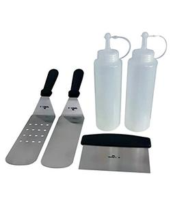 5 Piece BBQ Grill and Griddle Tool Kit from E-Z Grip, 2 Spat
