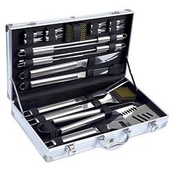 Barbestar BBQ Grill Tools Set, 19-Piece Heavy Duty Stainless