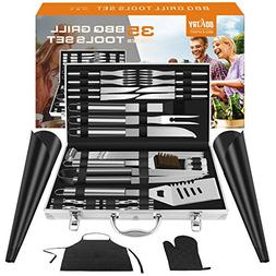 Doatry BBQ Grill Tools Set with 35 Barbecue Accessories - St