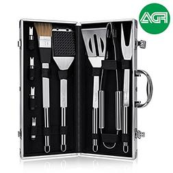 BBQ Grill Tools Set,Discoball Stainless Steel Utensils with