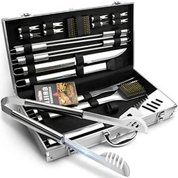 GRILLART BBQ Grill Utensil Tools Set Reinforced BBQ Tongs 19
