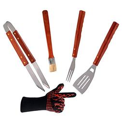ChasBete BBQ Grilling Tools Set 5-Piece Stainless Steel Tool
