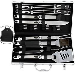 ROMANTICIST 20pc BBQ Grill Accessories Set with Non-Slip Han