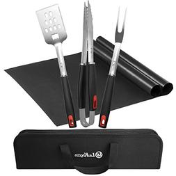 LauKingdom BBQ Tool Set, Stainless Steel Grilling Accessorie