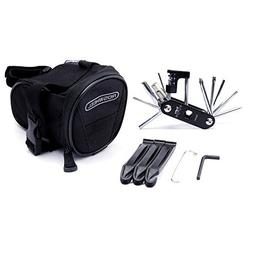 WOTOW Bike Repair Tool Kits Saddle Bag Bicycle Repair Set wi