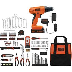 Black And Decker Drill Driver 20V Lithium 128-Piece Kit Set