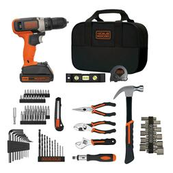 BLACK+DECKER 20V MAX* Lithium Ion Drill 84 Piece Project Kit
