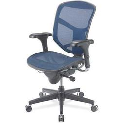 WorkPro Blue Fabric Quantum Mesh Mid-Back Task Chair