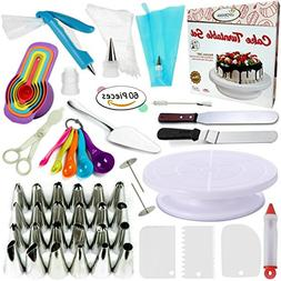 Cake Decorating Supplies Kit VIPorama 60pcs Set 1 Cake Turnt