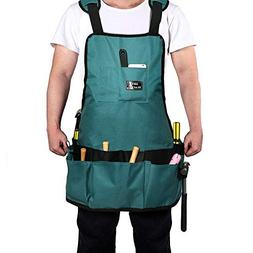 LIFE TRACE Canvas Work Tool Apron, Gardening Apron, With 16