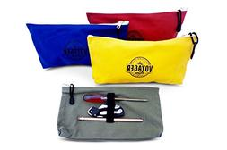 Canvas Zipper Bag  Heavy Duty Tool Pouch Tote Bags, Color Co