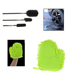 ABN Car Wash Cleaning 4-Piece Kit –  Tire Rim Original Whe