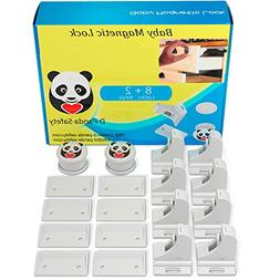 Child Safety Magnetic Cabinet Locks - Invisible Baby Proof L