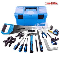 Hi-Spec 28 Piece Children's Real Tool Set Kit & Storage Bo