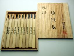 10 Pcs Chisel Set in Wooden Box, Engraving Knife, Edge Mater