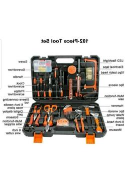 COLMAX 102PCS Home Improvement Tool Kit, Household repairing