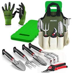 Comfort Plus 8-Piece Gardening Tool Set - Includes EZ-Cut Pr
