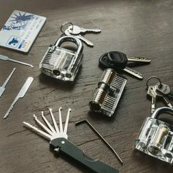 Complete Lock pick Tool Set with Clear Practice Locks and ED