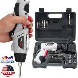 Cordless Screw Driver Rechargeable Electric Drill Repair Too
