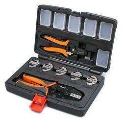 Crimping Tool Set 8 PCS with Interchangeable Dies and Wire S
