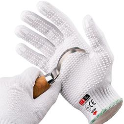 NoCry Cut Resistant Protective Work Gloves with Rubber Grip