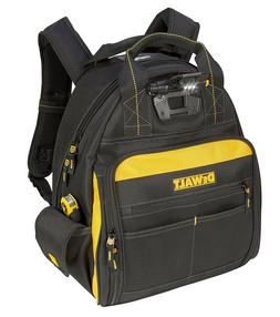 DEWALT DGL523 Lighted Tool Backpack Bag, 57-Pockets