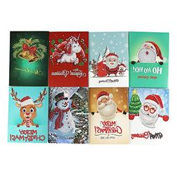 Weite DIY Christmas Greeting Cards,  5D Diamond Embroidery R