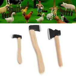 3Pcs Doll House Miniature 1:12 Scale Garden Farming Tools 2