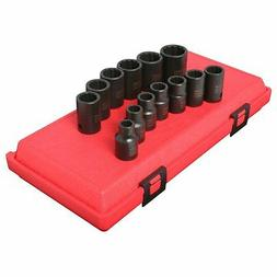 "1/2"" Dr. 12 Pt. 13 Pc. Metric Impact Socket Set"