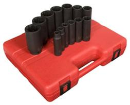 Sunex 2858 1/2-Inch Drive Deep 8-Point SAE Impact Socket Set