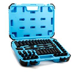 Premium Chrome Molybdenum Steel 48-Piece Capri Tools 3//8-Inch Drive Master Impact Socket Set with Adapters and Extensions